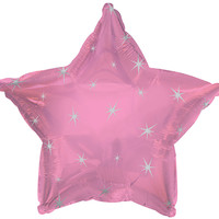 Pink Sparkle Star Foil Balloon