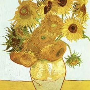 Vase with Twelve Sunflowers by Vincent Van Gogh Fine Art Print