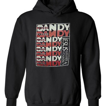 Psycho Candy The Jesus and Mary Chain Rock Band Black Hooded Sweatshirt Size S M L XL 2XL 3XL