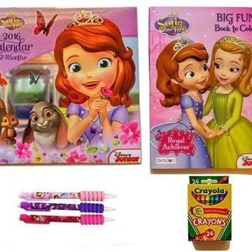 Sofia the First Disney Junior Princess Calendar Set Coloring Book Crayola Crayons Mechanical Pencils