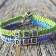 Bae Bracelets for Couples, Tutti Frutti and Lime Green Hemp Jewelry
