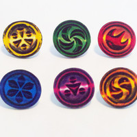 Sage Medallions (pin backed) - Legend of Zelda: Ocarina of Time