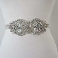 SALE Wedding Belt, Bridal/ Wedding Belt, Bridal Belt, Sash Belt, Crystal Rhinestone, BSA2304