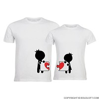 Complete My Heart™ His & Hers Matching Couple Shirts