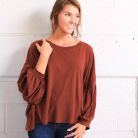 Free People Sugar Rush Tee - Brown
