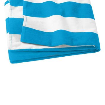 Port Authority Cabana Stripe Beach Towel. PT43