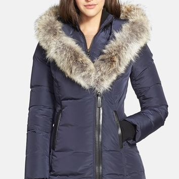 Women's Mackage 'Adali' Fitted Down Coat with Genuine Coyote Fur