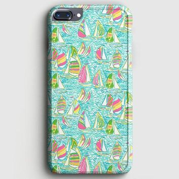 Lilly Pulitzer Sailboat iPhone 8 Plus Case | casescraft