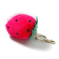 Strawberry Fluffy Keyring - Topshop