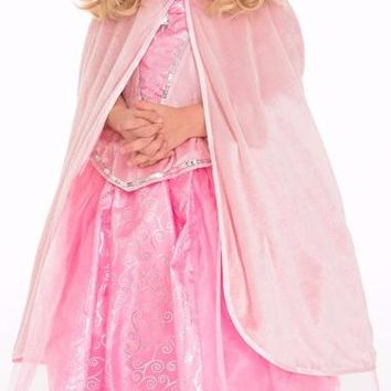 Little Adventures Pink Velvet Cloak
