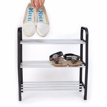 Superior 3 Tiers Plastic Shoes Rack Storage Organizer Stand Shelf Holder Unit Light F