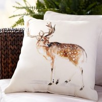 Painted Deer Indoor/Outdoor Pillow