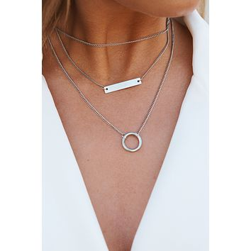 Carefree Tiered Necklace (Silver)