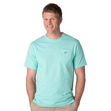 Embroidered Pocket Tee Shirt in Offshore Green by Southern Tide - FINAL SALE