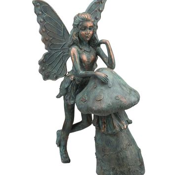 Whimsical Fairy and Mushroom Garden Statuary