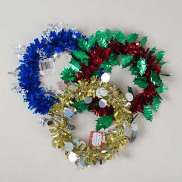 "Christmas Tinsel Wreath - 9.5"" Diameter"