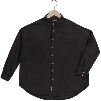Parson Tencel Shirt in Black