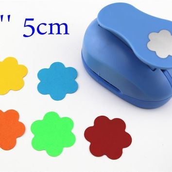 free shipping flower punches 2'' craft punch paper cutter scrapbook child craft tool hole punches Embossing device kid  S2935-4