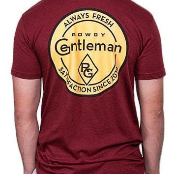 Always Fresh Short Sleeve Pocket Tee Shirt in Maroon by Rowdy Gentleman - FINAL SALE