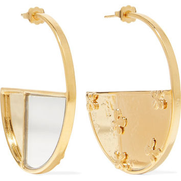 Aurélie Bidermann - Bianca gold-plated mirrored earrings