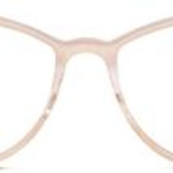 Louise Metal Eyeglasses in Rose Gold for Women | Warby Parker