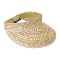 Visor In Multi Braid - Natural Straw