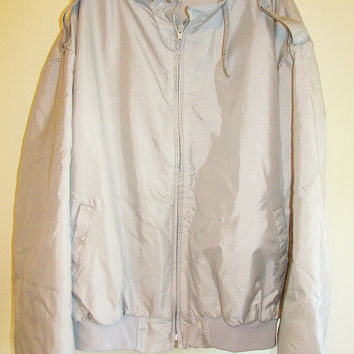 Men's Vintage 1970's Gray Silver Member's Only Style Light Weight Jacket