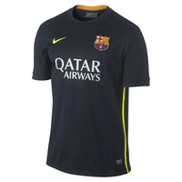 Nike Barcelona FC Youth Third Replica Performance Soccer Jersey - Black