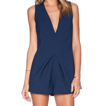 keepsake Steal The Light Playsuit in Navy