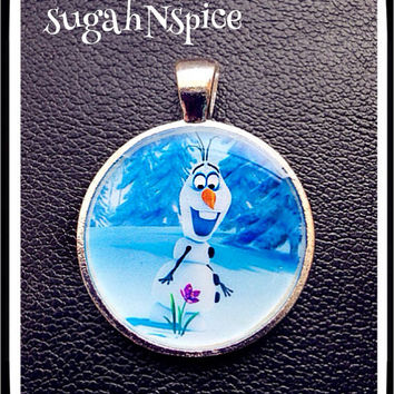 Disney Frozen OLAF  Inspired Pendant for Chunky Bubblegum necklaces Frozen Pendant