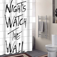 night watch The Wall specials custom shower curtains that will make your bathroom adorable.
