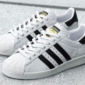 adidas Originals Superstar 80S Gold Logo Scale Fashion Shell-toe Series Flats Sneakers Sport Shoes One-nice™