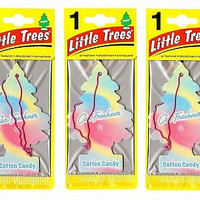 Cotton Candy Scented Little Trees Hanging Car Air Fresheners 24pk New! Sealed!