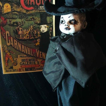 Creepy Prop Doll Dark Eerie OOAK Altered Art Macabre Haunted Scary Freak Monster Demon Ghoul Weird Fright Horror Gothic Dead by L.Cerrito