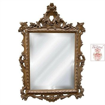 English Regency Hand Finished Entryway or Wall Mirror with Antique Gold Finish