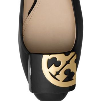 Tory Burch Square-toe Logo Flat