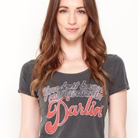 You Don't Have to Call Me Darlin, Darlin' Ballet Tee - Vintage Black
