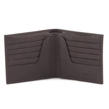 300798-BR Bifold Hipster Leather Wallet in Brown | Style n Craft