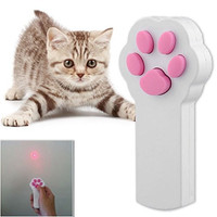Bestag Paw Style Cat Catch the Interactive LED Light Pointer Exercise Chaser Toy Pet Scratching Training Tool (Random Color)