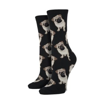 Black Pug Socks