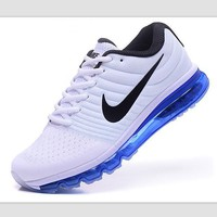 NIKE Trending Fashion Casual Sports Shoes AirMax section Blue black Hook blue soles