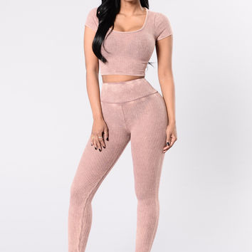 Repetition Leggings - Mauve
