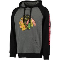 Chicago Blackhawks Rinkside Division Two-Tone Hoodie - Gray