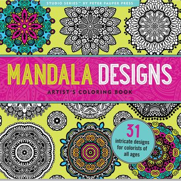 Boho Mandala Designs Anti-Stress Adult Coloring Book