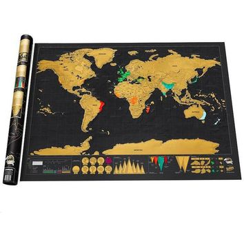 1 PCS 88x52 cm Scratch Map Of The World OFF MAP Travel Scratch Map World Map Scratch Novelty Gift