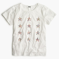 J.Crew Womens Embellished Star T-Shirt