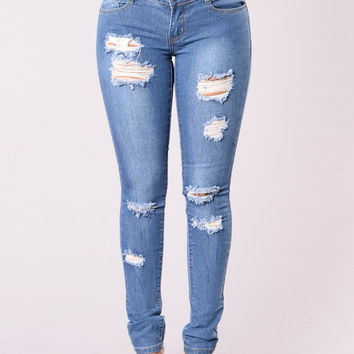 Stairway To Power Jeans - Medium Wash