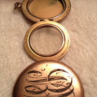 Antique Monogrammed Leach and Miller Gold Locket L and M 1910s 1920s