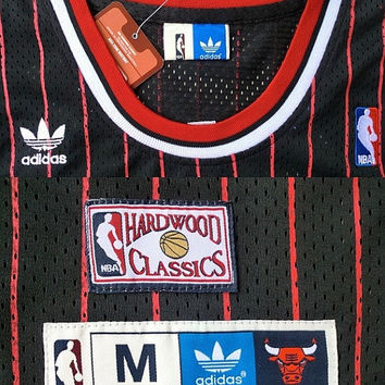 Dennis Rodman Chicago Bulls 91 Throwback Swingman NBA Black Red Basketball Hardwood Classic Jersey All Stitched and Sewn Any Size S - XXL