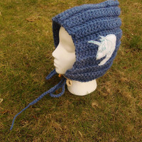 Unicorn Pixie Womens Navy Winter hat With Toggle Button